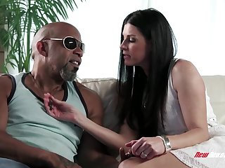 India Summer Pussy Stretched By Giant Black Cock India Summer