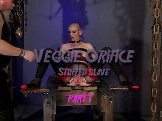 Bondage Veggie Orifice Stuffed sex slave part 1