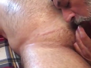Sikh older desi daddy sucking