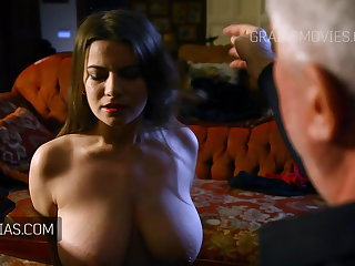 Whipping Cute girl with great natural tits slapped around