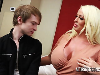 Cuckold Cuckold threesome with big tit pornstar Alura Jenson