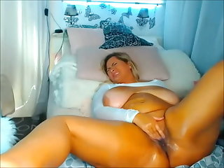 Lingerie Blonde thick Pawg masturbates on Cam - 2