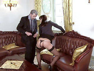 all Anorexic Teen Seduce to Rough Anal Sex by Boss in Office