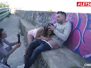 LETSDOEIT - Slutty Teen Rides A Big Cock Near The Highway