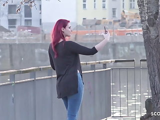 Agent GERMAN SCOUT - Redhead College Teen Melina talk to Fuck Cast
