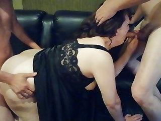 Mom threesome