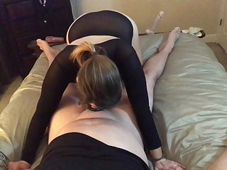 Muscular Women Hotwife talks about fucking other cock in front of her cuck
