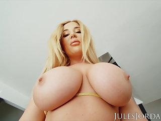 Yoga Jules Jordan - Savannah Bond Gets A Jizz Deposit In Her ASS