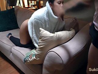 Beautiful Chinese girlfriend orgasms loudly