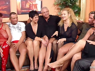 Party Real German Mature Swinger Party with 4 Couple Change Wife
