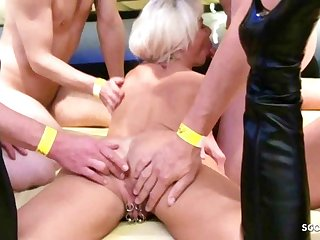Party Swinger Party Anal Creampie Gangbang for German Mature Nadja