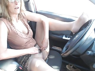 Cougars Masturbating in Car